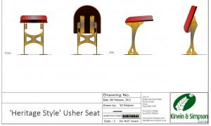 Heritage Style Usher Seat