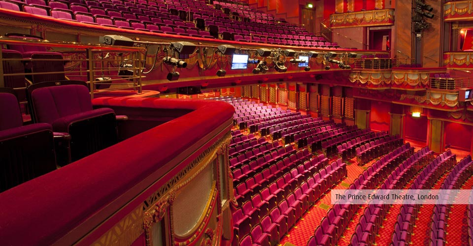 Rester Rails And Box Fronts At The Prince Edward Theatre London