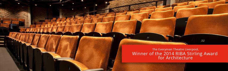 Contemporary auditorium seating at the award-winning Everyman Theatre, Liverpool