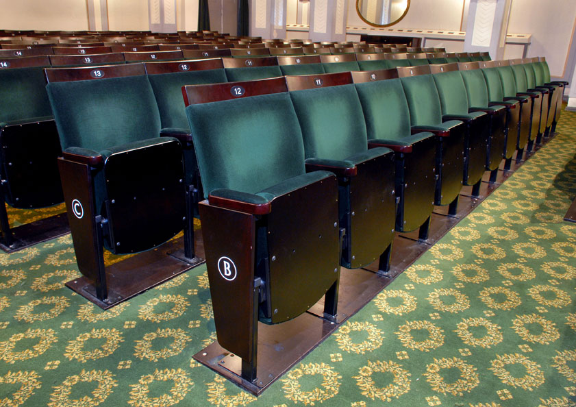 New matching traditional seating at London's Fortune Theatre
