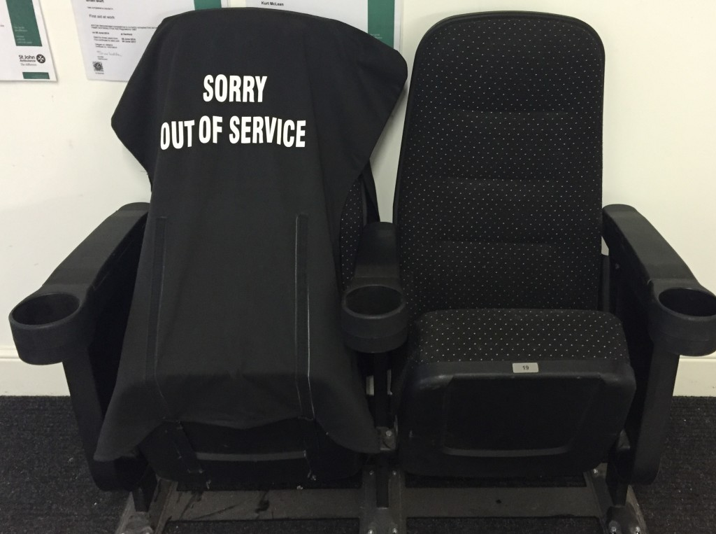 Out Of Service chair covers by Kirwin & Simpson