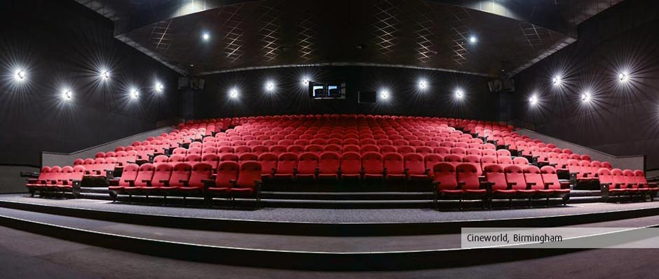 Cineworld, Birmingham, new seating by Kirwin & Simpson