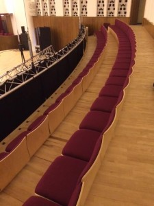 versatile removable and stackable chairs at the Liverpool Philharmonic Hall