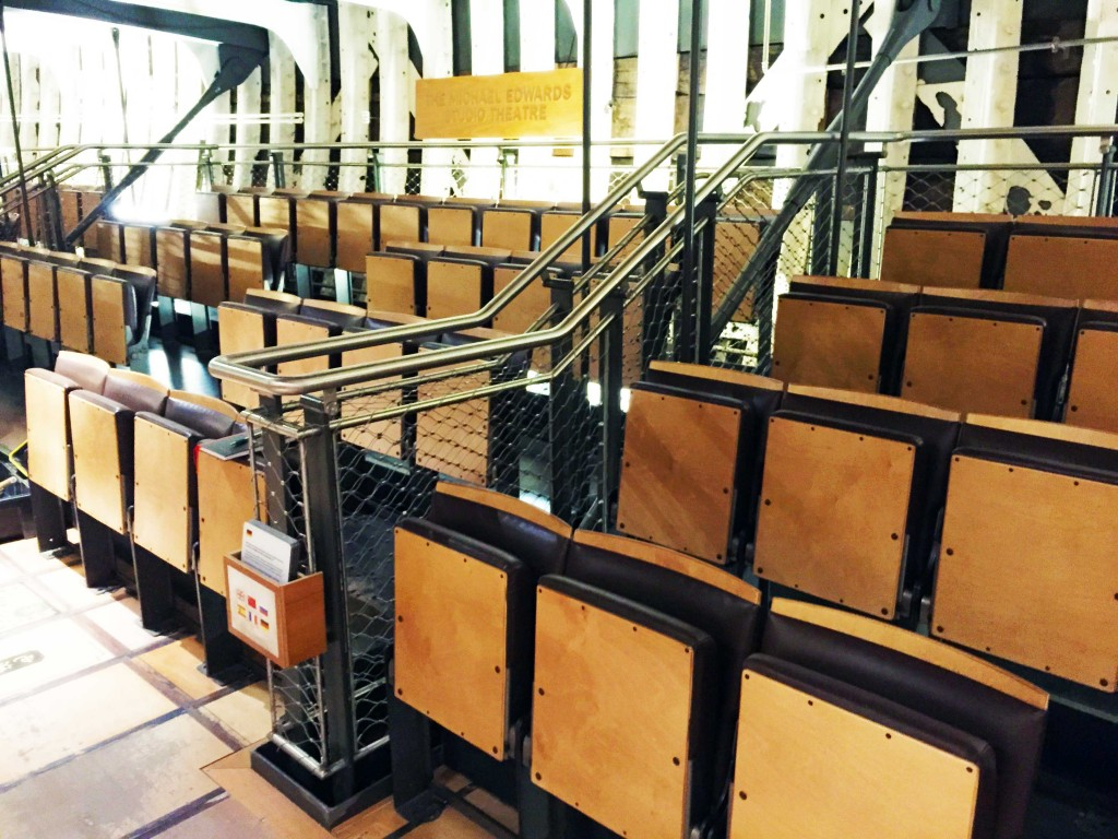 New auditorium seating at the Cutty-Sark